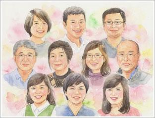 家族 似顔絵