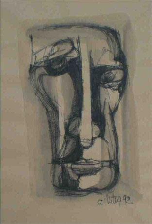 """""""Skeptiker"""", 1992, Tusche, 20 x 12 cm"""