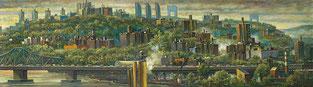 """Harlem River Valley Right Panel"" by Daniel Hauben"