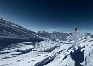 Buzz Aldrin 2015 in unberührter Schneelandschaft
