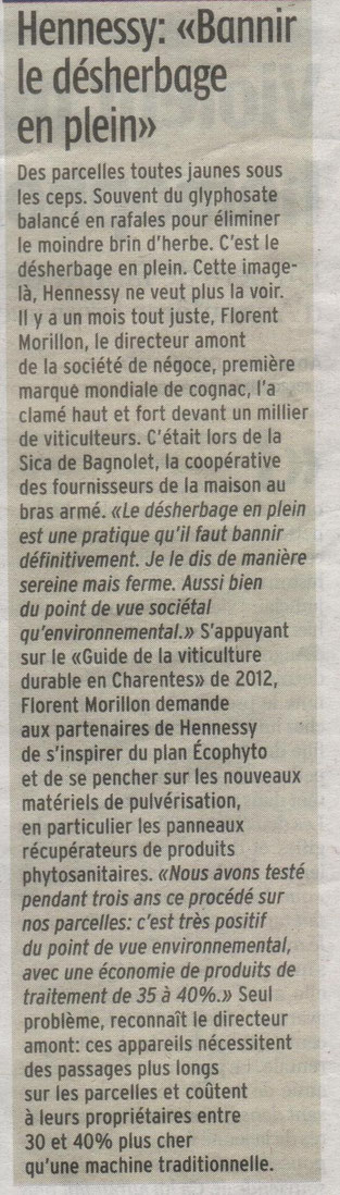 Article Charente Libre du 10-06-2015