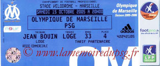 Ticket  Marseille-PSG  2005-06