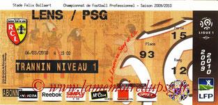 Ticket  Lens-PSG  2009-10