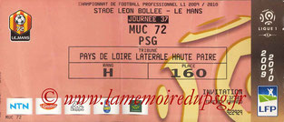 Ticket  Le Mans-PSG  2009-10