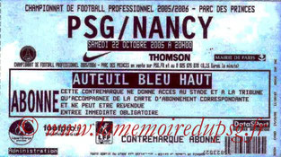 Ticket  PSG-Nancy  2005-06