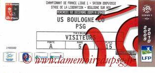 Ticket  Boulogne sur Mer-PSG  2009-10