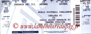 Ticket  Chelsea-PSG  2012-13