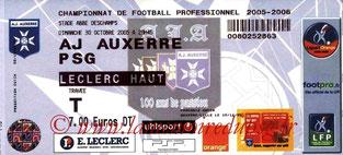 Ticket  Auxerre-PSG  2005-06