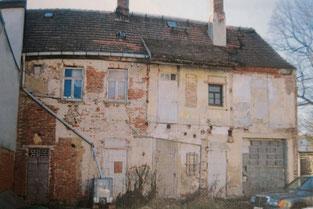 Rückansicht des alten Gebäudes Weberstraße 26