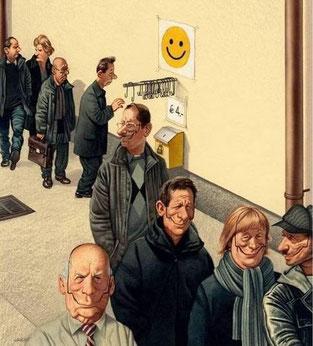 Lächeln, lachen, Freude