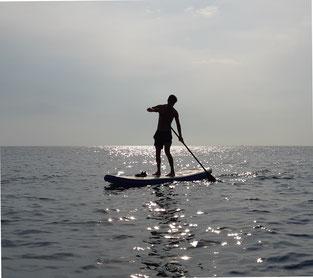 Stand-Up-Paddling an der kroatischen Küste (August 2019)