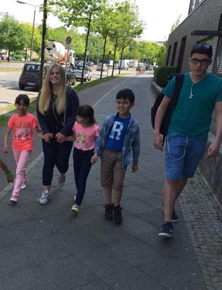 Kinderbetreuung in der Flüchtlingsnotunterkunft