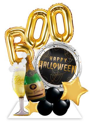 Ballon Luftballon Folienballon Dekoration Geschenk Halloween Party Deko Tischdeko Mitbringsel Versand Heliumballons Happy Halloween Monster Männchen gruselig Vampir Fledermaus Überraschung Hexe Witch Airloonz Amscan Neu Versand
