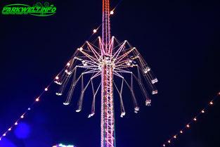 Jules Verne Tower Funtime Starflyer Kettenflieger Alexander Goetzke Kettenkarussell  Kirmes Volksfest