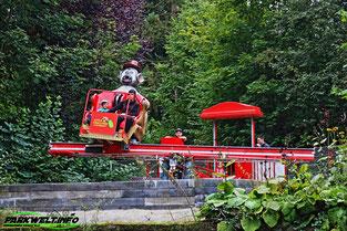 Affen und Vogelpark Eckenhagen Tierpark Wildpark Zoo Nordrhein Westfalen Mini Starflyer Karussell Heinz Drifter Jimmys Super Sause