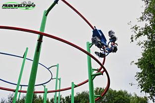 Sky Rider Skyline Park Allgäu Cariprp Suspendet Spinning Coaster RRRAchterbahn Einzigartig Prototyp Einmalig