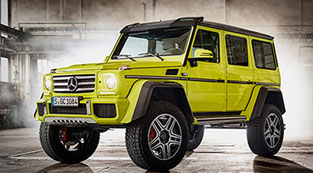 G500 4x4² : King off the road   ---Mercedes-Benz Germany homepageより