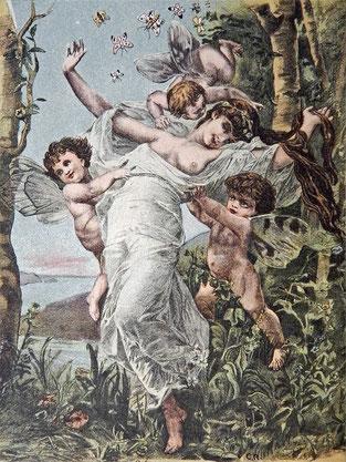 «Праздник жизни в царстве Бабочек», художник С. П., рисунок на нотной обложке