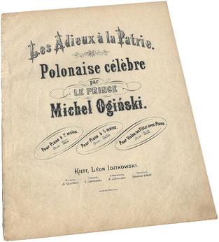 Полонез Огинского, старинные ноты, Идзиковский, Киев, обложка, фото