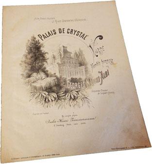 Хрустальный дворец, вальс, Жорж оки-Альби, старинные ноты, обложка, фото