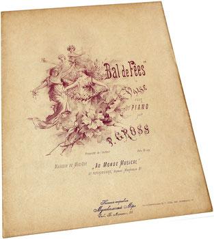 Сказочный бал, старинный русский вальс, Гросс, ноты, обложка, фото