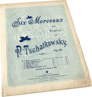 Ноктюрн до диез минор опус 19, Чайковский, голубая нотная обложка, Юргенсон, фото