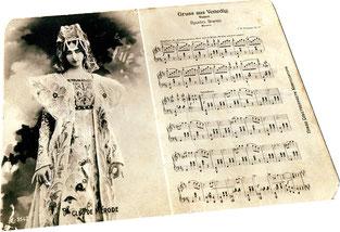 Привет Венеции вальс Фельдман открытка Клео де Мерод фото