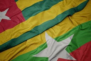 Drapeau Afrique Togo