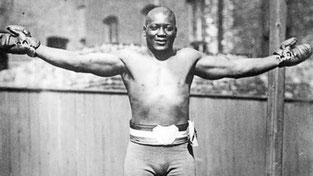 Jack Jonhson champion black boxe