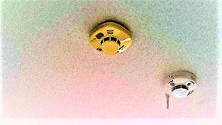 既設住警器の真横に特定小規模用感知器