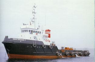 船 舶(OSAM DRAGON 7 370t 1,000PS×2基)                             主機・補機・配管工事