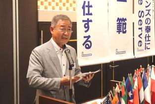 財務・運営委員長  L.上田 敏文