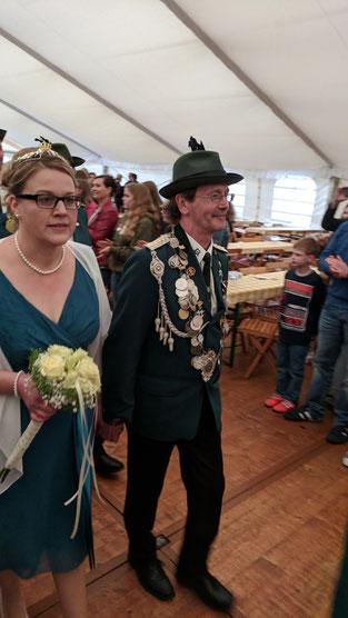 König Reinhold Meemann und Königin Marion Meyer