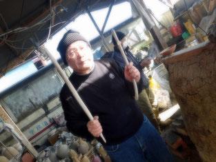 HiroshiMochida   ひみこ窯 窯詰 うなぎ制作