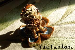 陶芸 立花雪 YukiTachibana 河童の妖精      薪窯で焼成
