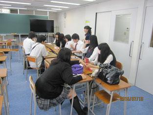 グループで事後学習。