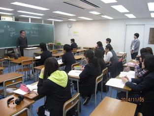 林一嘉さんのトークと授業風景