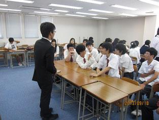 生徒たちとの交流