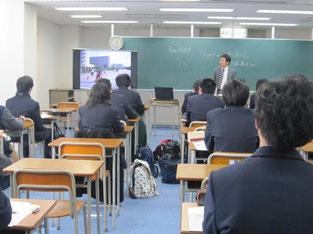 近藤真司さんの講話。