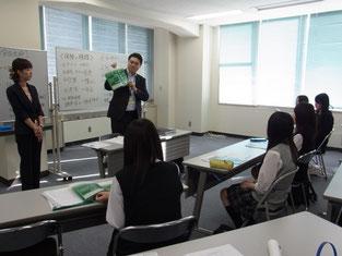 講演会が終わった後、ご担当の方々から企業概要について説明がありました。