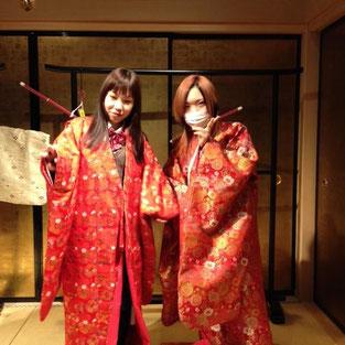 城下町なりきり体験②~江戸時代の着物を着よう