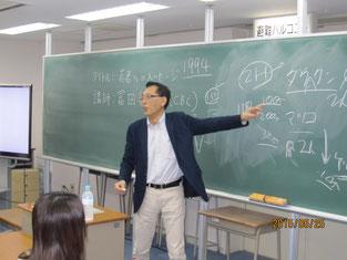 冨田和音さんの講話。