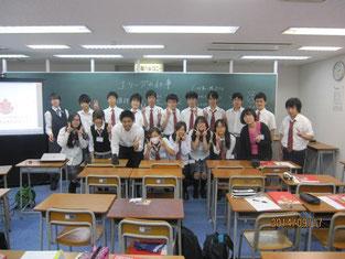 生徒たちとの記念写真。
