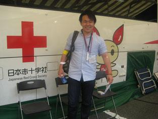 献血を終えて、素敵な笑顔です!