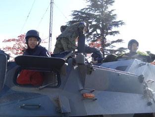 装甲車試乗体験