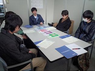 会議室で専務さんから、会社の概要を伺いました。