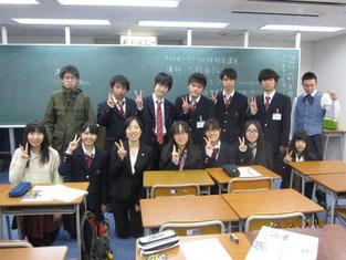 生徒たちとの記念写真