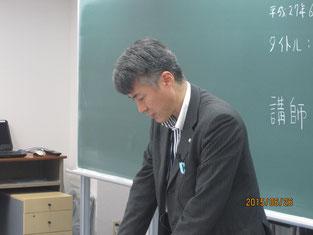 西方仁也さんの講話。