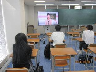 事前学習として10月8日にNHK「クローズアップ現代」を視聴