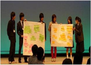 グループ別意見交換会での内容を踏まえ、全体会での発表が行われました。